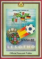 LESOTHO , 1982, Mint FDC Card, World Cup Soccer Souvenir Sheet , MI Nr. 373-384, F2562 - Lesotho (1966-...)