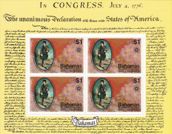 Bahamas 1976 American Bicentennial Souvenir Sheet MNH