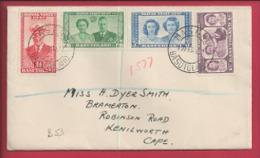 BASUTHOLAND , 1947, Addressed Cover, Royal Visit, MI Nr. 35-38, F2364 - Basutoland (1933-1966)