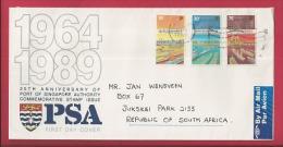 SINGAPORE, 1989, Addressed Cover, Port Of Singapore,  F2370 - Singapore (1959-...)