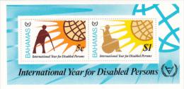 Bahamas 1981 International Year of Disabled Souvenir Sheet MNH