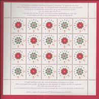 NEDERLAND, 1992 MNH Stamps/sheet, Christmas , NVPH Nr. 1542-1543 , #6877 - Blocks & Sheetlets