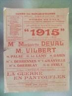 Casino Des Sables D'olonne Programme De Theatre 1915 Avec Marguerite Deval  Et M Gabin Pere De Jean - Programmi