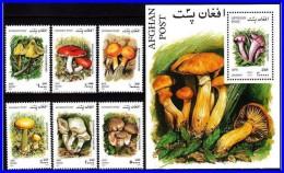 AFGHANISTAN 2001 Wild MUSHROOMS + S/S MNH  (3ALL) - Afghanistan