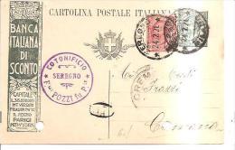 61182)intero Postale Publi.  Banca Italiana Di Sconto Da Seregno A Cremona 22-2-21cent.15+10 - Interi Postali
