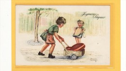 ILLUSTRATEURS / ILLUSTRATEUR HENRY / Transport D'un Oeuf En Chocolat / Joyeuses Pâques - Illustrateurs & Photographes