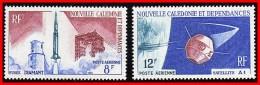 NEW CALEDONIA  1966 SPACE SATELLITE & ROCKET SC#C44-45 MNH - Space