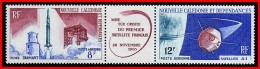 NEW CALEDONIA  1966 SPACE SATELLITE & ROCKET SC#C44-45A MNH - Space