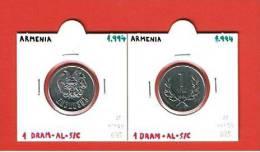 ARMENIA  1 DRAM  1994  AL  KM#54   SC/UNC        DL-6743 - Armenia