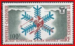 NEW CALEDONIA 1967 WINTER OLYMPICS / GRENOBLE SC#C56 MNH CV$18.00 SKIING - Winter 1968: Grenoble