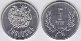 Armenia 5 Drams 1.994 Aluminio KM#56 SC/UNC  T-DL-10.281 - Armenia