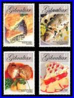 GIBRALTAR 2005 EUROPA - CEPT // FOOD  SC#1010-13 MNH CV$9.00 FISH  (3ALL) - Alimentazione