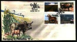NAMIBIA, 1990, Mint FDC 1.3, Agriculture, Stampnrs. MI 679-682 - Namibië (1990- ...)