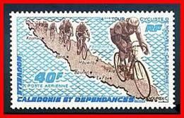 NEW CALEDONIA 1970 BICYCLISTS SC#C77 MNH CV$8.00 CYCLING - Cycling