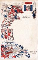 MENÜ Ansichtskarte Restaurant Horcher Madrid Alfonso XII - Werbepostkarten