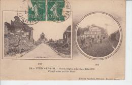 VENDIN LE VIEIL - Rue De L'église Et La Place 1914 & 1918 - Francia