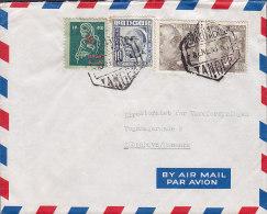 Spanish Tanger Airmail Par Avion TANGER 1953 Cover Letra Mixed TANGER / SPAIN Franking 1952 Christmas Seal ?? (3 Scans) - Spanisch-Marokko