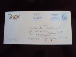 Spécial TTB : Enveloppe Sivom Portes Roussillon Pyrénées Pollestres (66 Pyrénées Orientales)  Ema Vb 814761 - Postmark Collection (Covers)