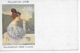 PUBLICITE - COLLECTION JOB - Calendrier 1900 C. LEANDRE - Werbepostkarten