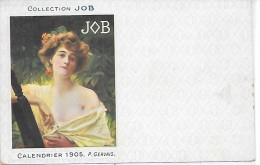 PUBLICITE - COLLECTION JOB - Calendrier 1905 - P. GERVAIS - Werbepostkarten