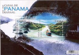 Belg. 2014 - Les 100 Ans Du Canal De Panama ** (tirage Limité à 86.177 Exemplaires) - Blocks & Sheetlets 1962-....