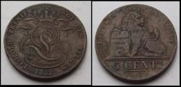 PIECE BELGIQUE 5 CENTIMES 1852 - 1831-1865: Leopold I