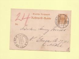Pneumatique - 1898 - Berlin - Rohrpost - Alemania