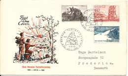 Norway FDC 22-1-1968 The Norwegean Tourist Association 100th Anniversary With Cachet Sent To Denmark - FDC