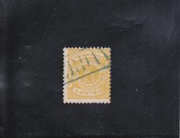 ARMOIRIES 5C JAUNE OBLITéRé, N°29 YVERT ET TELLIER 1874-80 - 1859-1880 Armoiries