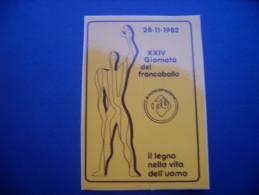 ADESIVO PUBBLICITARIO GIORNATA DEL FRANCOBOLLO 1982 - Adesivi