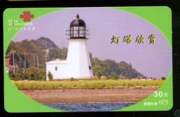 Télécarte China Unicom - Phare - Phares