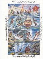 Stamps LIBYA 1984 DIVING AND MARIN SPORTS SHEET MNH */* - Libya