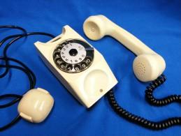 Telefono A Disco SAFNAT MILANO Colore Panna Anni'60 Vintage - Altre Collezioni