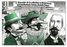 EL 200, N 127 , Bergerac 1999, Illustrateur Bernard Veyri Cyrano De Bergerac Rostand, Anatole France - Veyri, Bernard
