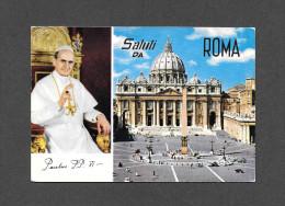 RELIGIONS - PAPES -  Paulus PP VI Pape, Pope, Paul VI - SALUTI DA ROMA - Papes