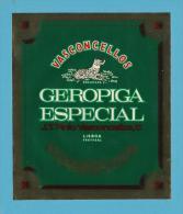 GEROPIGA ESPECIAL VASCONCELLOS  - J. T. Pinto Vasconcellos - RÓTULO  LABEL  PORTUGAL - Etiquettes
