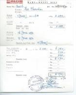 """FACTURE : Hotel """" Mars Hotel Bill """" Sanur Bali Indonésie - Australie"""