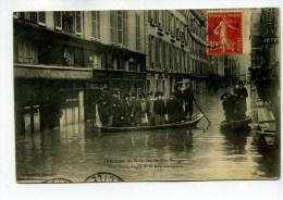 CPA 75  :   PARIS    Inondations Rue Jacob   VOIR  DESCRIPTIF  §§§§ - Inondations De 1910