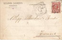 GIOVANNI SGORBATI PIACENZA VIAGGIATA 1908
