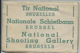 Tir National Bruxelles.Nationale Schietbaan Brussel. 9 kaarten.