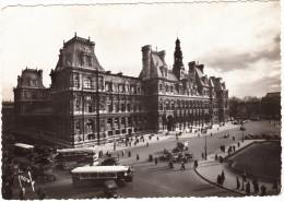 Paris: OLDTIMER VOITURES; PEUGEOT 402 LIMOUSINE, CAMIONS & AUTOBUS Etc. -L'Hotel De Ville (1939) - France - Passenger Cars