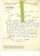 22 - Côtes-d'armor - PLOUBALAY - Facture DUCHENE - Quincaillerie - Ateliers De Constructions – 1929 - REF 82 - France