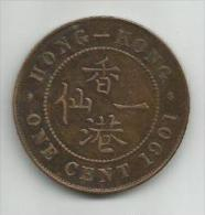 Hong Kong 1 Cent 1901. - Hong Kong