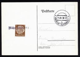 A2881) Sudetenland Karte Von Mährisch-Schönberg 11.11.1938 - Sudetenland