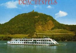 03436 - Motorschiff DRCHENFELS In Höhe Drachenfels Auf Dem Rhein  - KD Köln-Düsseldorfer - Paquebots