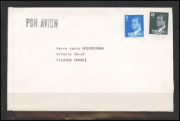 SPAIN Brief Postal History Cover ES 115 King Handball Air Mail - 1931-Hoy: 2ª República - ... Juan Carlos I