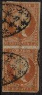 ANTILLES ESPAGNOLES - 2 R. De 1855 Oblitéré En Paire - Antilles