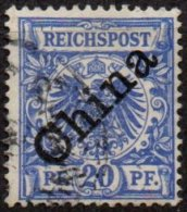 CHINE - Bureaux Allemands - 20 P. Bleu De 1897-1900 Oblitéré TTB - Offices: China