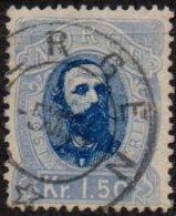 NORVEGE - 1 K. 50 De 1878 Oblitéré LUXE - Norvège