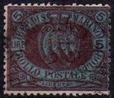 SAINT-MARIN - 5 L. De 1892-94 Oblitéré TTB - Saint-Marin